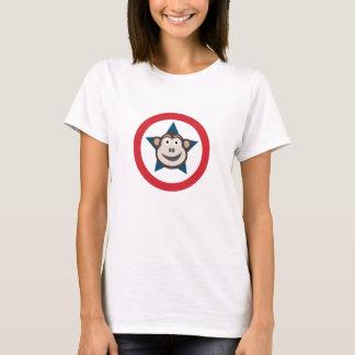 Camiseta La camiseta de las mujeres gráficas del mono