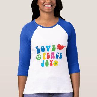 La camiseta de las mujeres retras de la alegría de