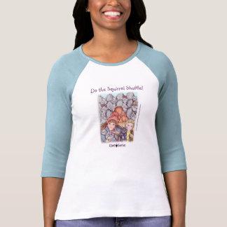 La camiseta de las señoras - barajadura de la