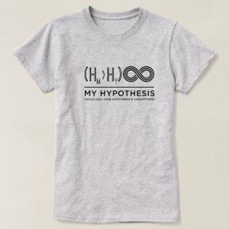 La camiseta de las señoras de la hipótesis camiseta