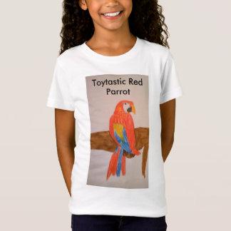 La camiseta de los chicas rojos del loro de