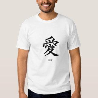 La camiseta de los hombres Amor-Chinos de las