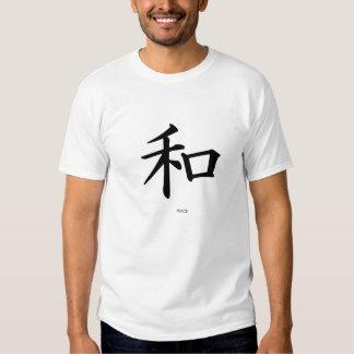 La camiseta de los hombres chinos de las letras de