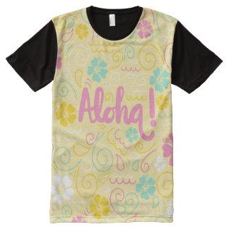 La camiseta de los hombres coloridos hawaianos de