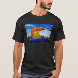 La camiseta de los hombres de la bandera de
