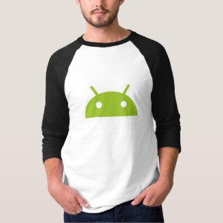 La camiseta de los hombres de la manga del