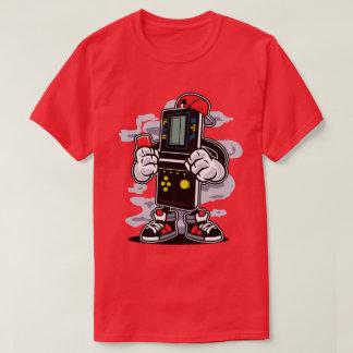 La camiseta de los hombres de los videojugadores