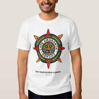 La camiseta de los hombres del amaranto del café