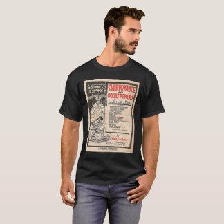 La camiseta de los hombres del anuncio del