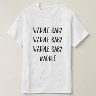 """""""La camiseta de los hombres del bebé del Waddle"""""""