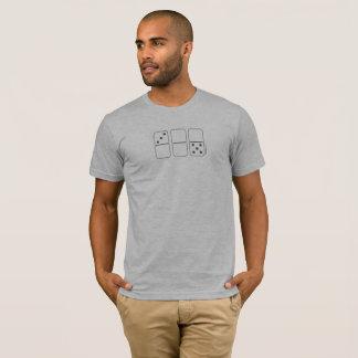 La camiseta de los hombres del dominó de
