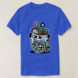 La camiseta de los hombres del estilo de los Ramen