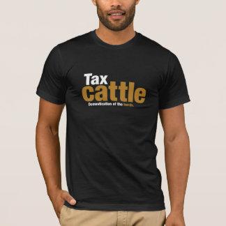 La camiseta de los hombres del ganado del impuesto
