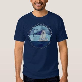 La camiseta de los hombres del gato de canal