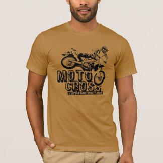 La camiseta de los hombres del motocrós