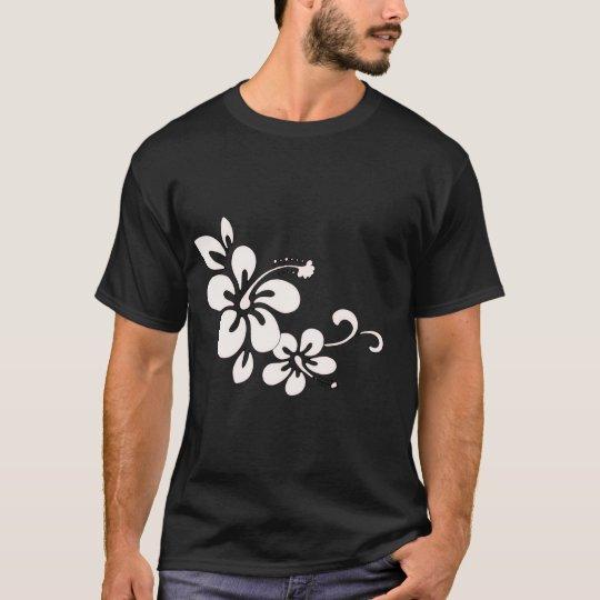 La camiseta de los hombres hawaianos de la flor