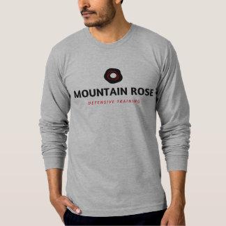 La camiseta de los hombres largo-envueltos