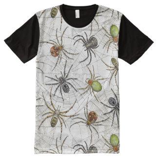 La camiseta de los hombres netos de las arañas