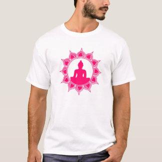 La camiseta de los hombres rosados de Buda