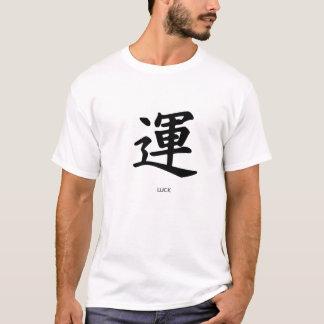 La camiseta de los hombres Suerte-Chinos de las