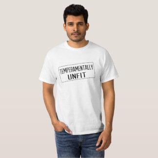 Camiseta La camiseta de los hombres temperamental impropios