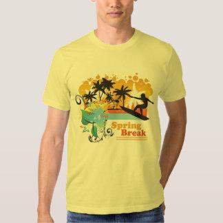 La camiseta de los hombres tropicales frescos de