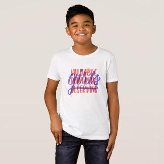 La camiseta de los niños de mérito potentes