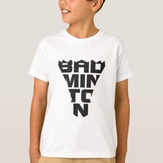 La camiseta de los niños del bádminton