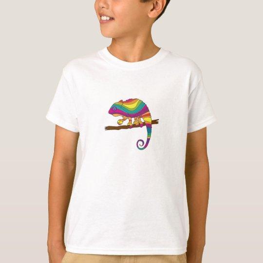 La camiseta de los niños del camaleón del arco