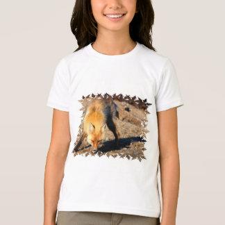 La camiseta de los niños del hábitat del Fox rojo