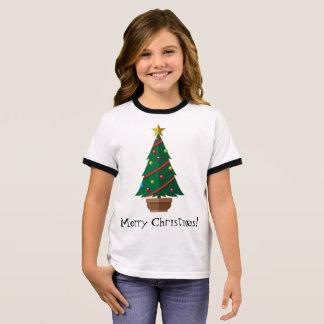 La camiseta de los niños del navidad