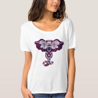 La camiseta de Mehndi del elefante de las mujeres