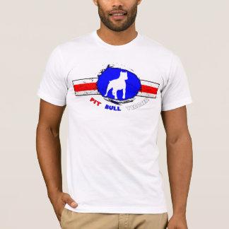 La camiseta de pitbull de los hombres americanos