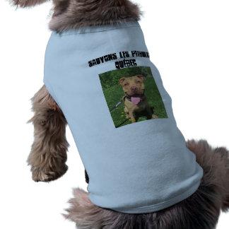 La camiseta de Pitbulls Quebec de los les de Camiseta Sin Mangas Para Perro
