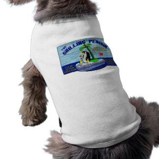 La camiseta de refrigeración del perrito del pingü camisetas de perrito