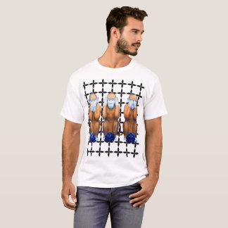 La camiseta de tres hombres sabios de los monos