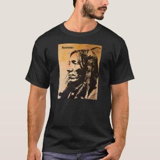 La camiseta del antepasado del nativo americano