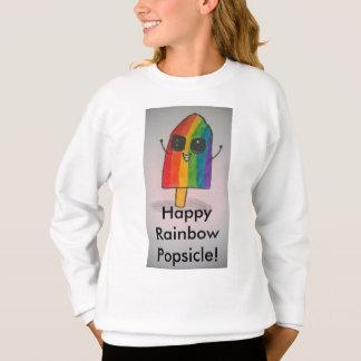 La camiseta del arco iris de los chicas felices