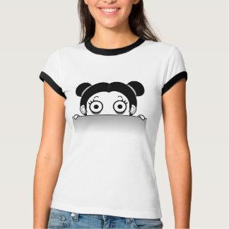 La camiseta del chica de la cabeza de las mujeres