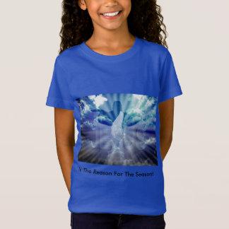 La camiseta del chica del navidad