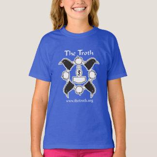 La camiseta del chica del Troth B&W (oscura)