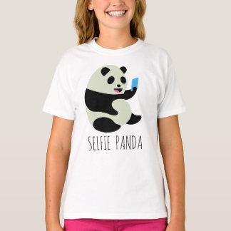"La camiseta del chica: ""Panda de Selfie """