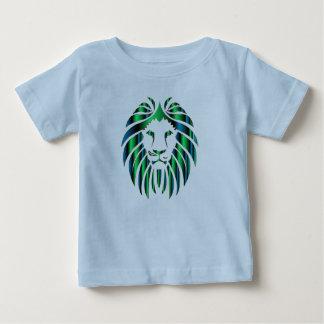 La camiseta del león del niño colorido prismático
