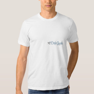 La camiseta del logotipo de la guía del café