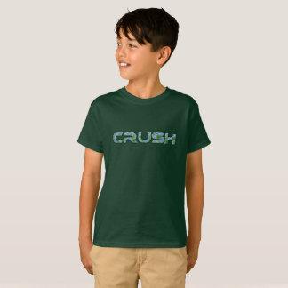 La camiseta del muchacho del agolpamiento