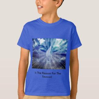 La camiseta del muchacho del navidad
