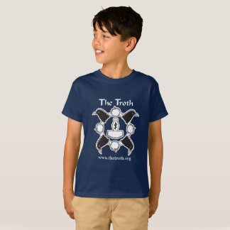 La camiseta del muchacho del Troth B&W (oscura)
