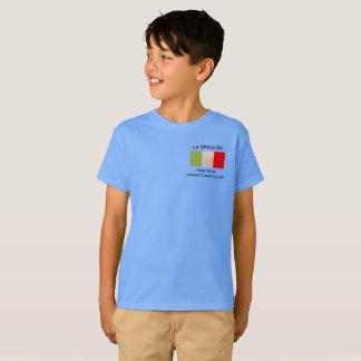 La camiseta del niño con la bandera italiana