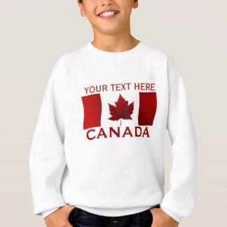 La camiseta del niño de la bandera de Canadá de la