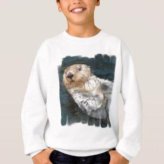 La camiseta del niño de la nutria de mar
